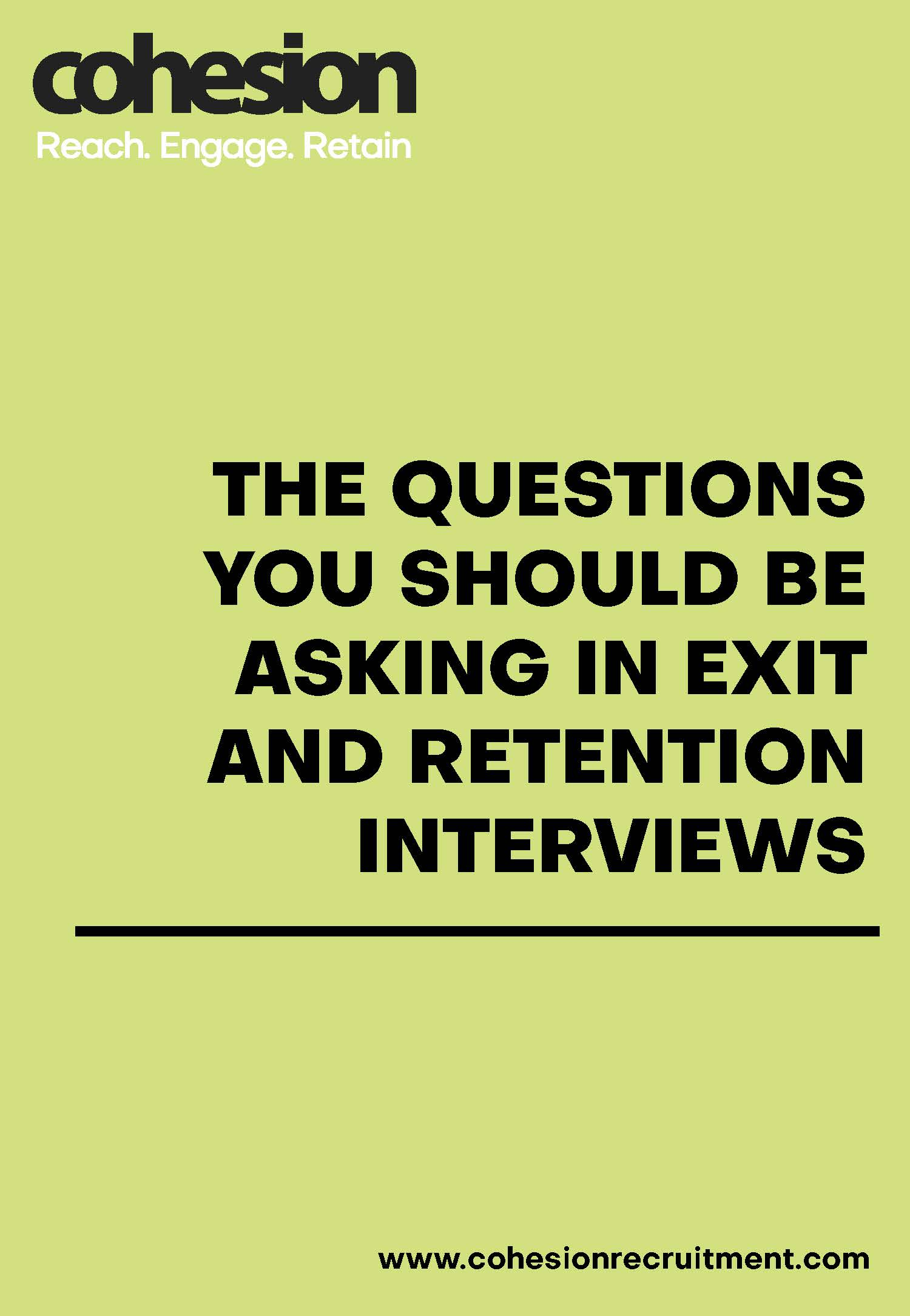 Questions to ask in Exit and Retention Interviews